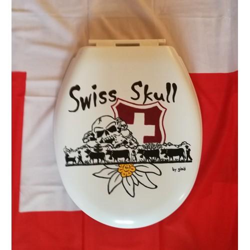 """Swiss Skull WC-Deckel """"Alpaufzug"""""""