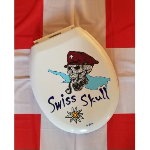 "Swiss Skull WC-Deckel ""Bodensee"""